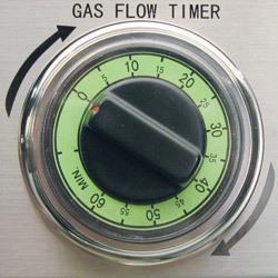automatic gas flow shut off timer